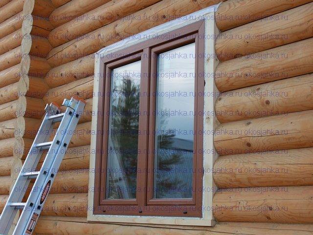Установка металлопластиковых окон в деревянном доме своими руками